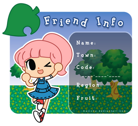 Animal Crossing Friend Info by Majichu