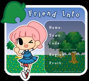 Animal Crossing Friend Info