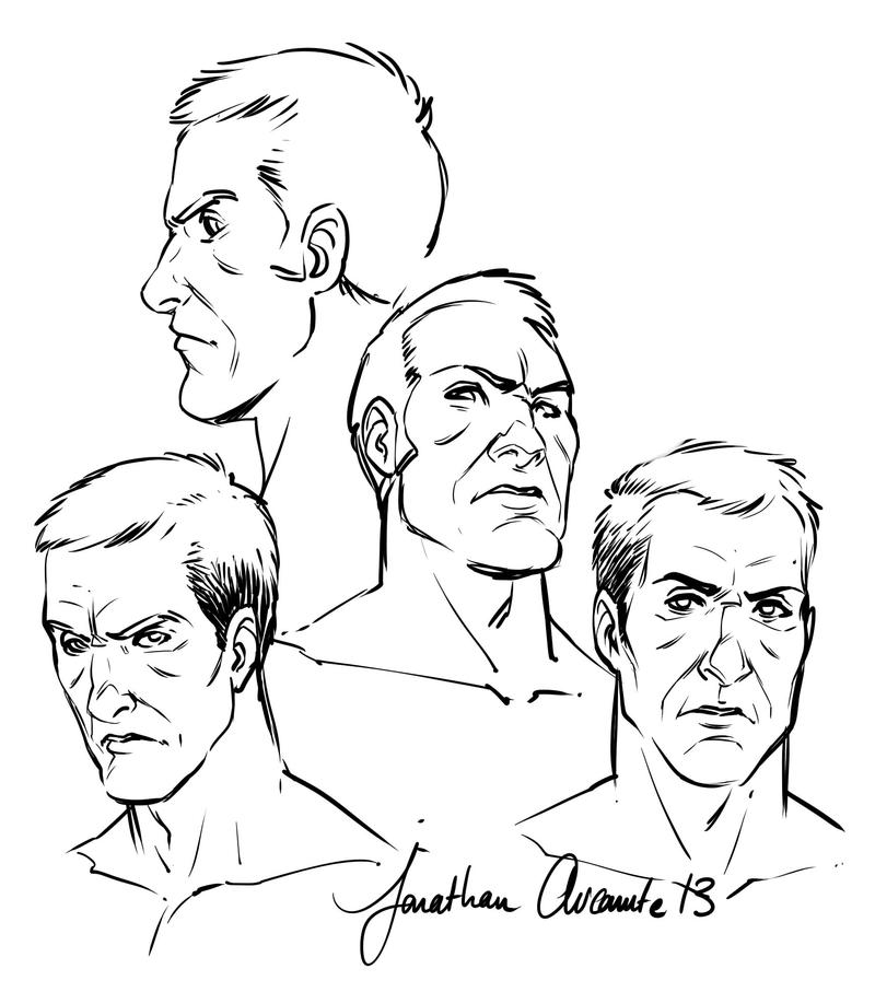 Line Drawing Male Face : Male faces by tonton jojo on deviantart