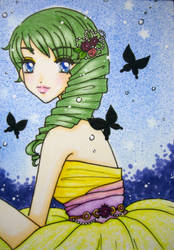 ACEO : Black Butterfly by suiren-chan