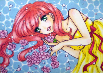 ACEO : Floating by suiren-chan