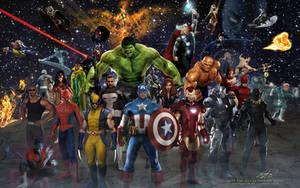 Marvel Team by estogarza