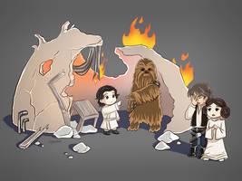 Wookiee Babysitter by AngelofDeathz