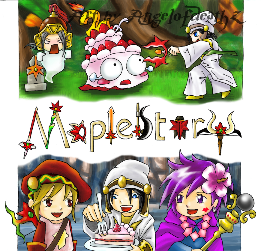 Maplestory fanart by AngelofDeathz
