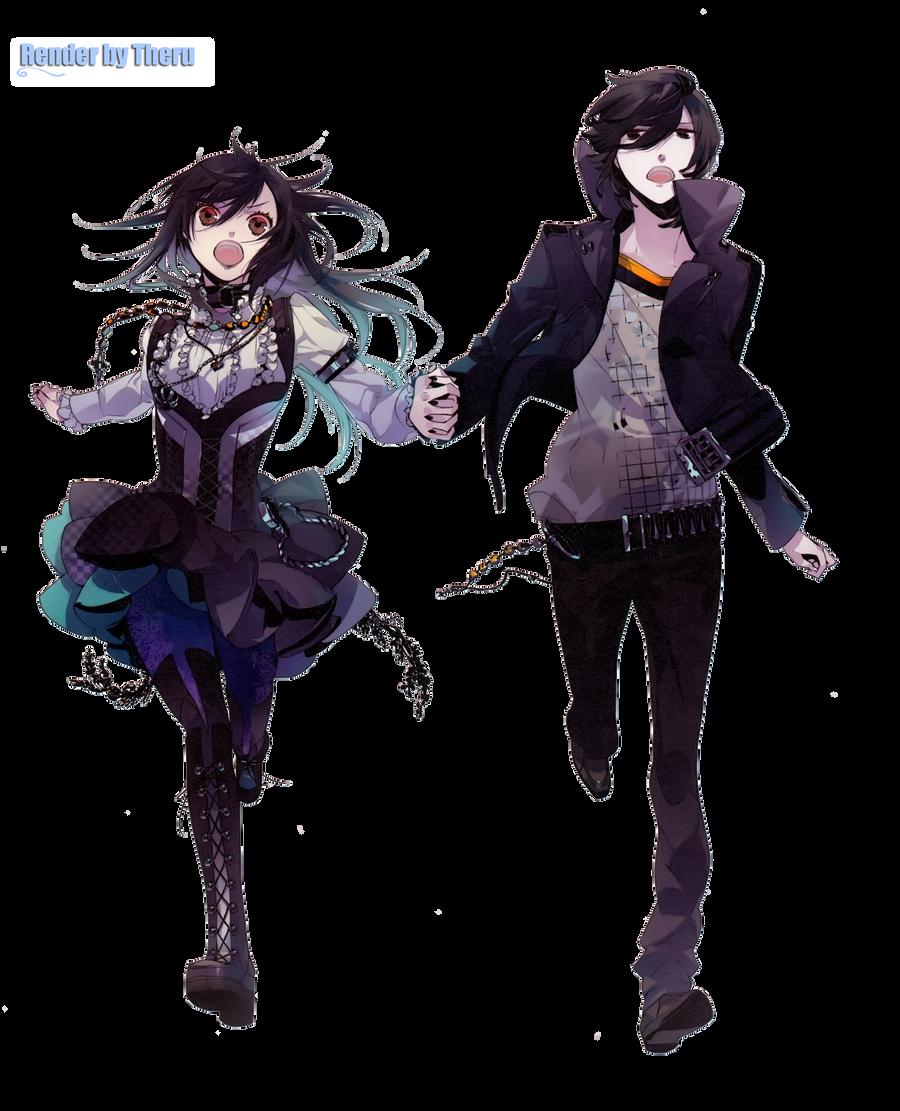 Anime Characters Running : Couple anime render by theru teru bozu on deviantart