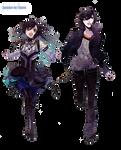 couple anime render