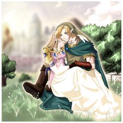 Link and Zelda: Serenity by Nardhwen