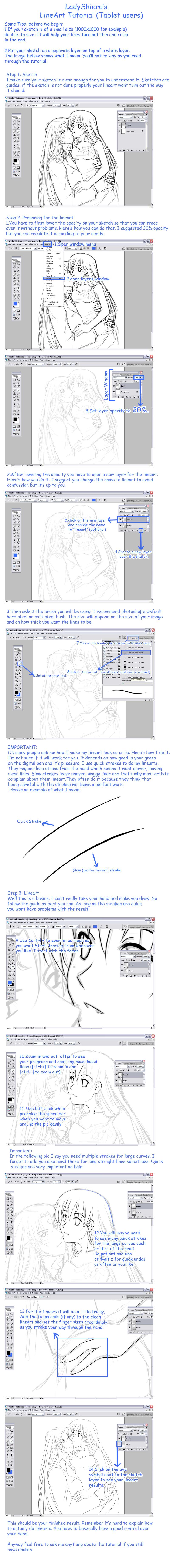 Lineart Tutorial by Nardhwen