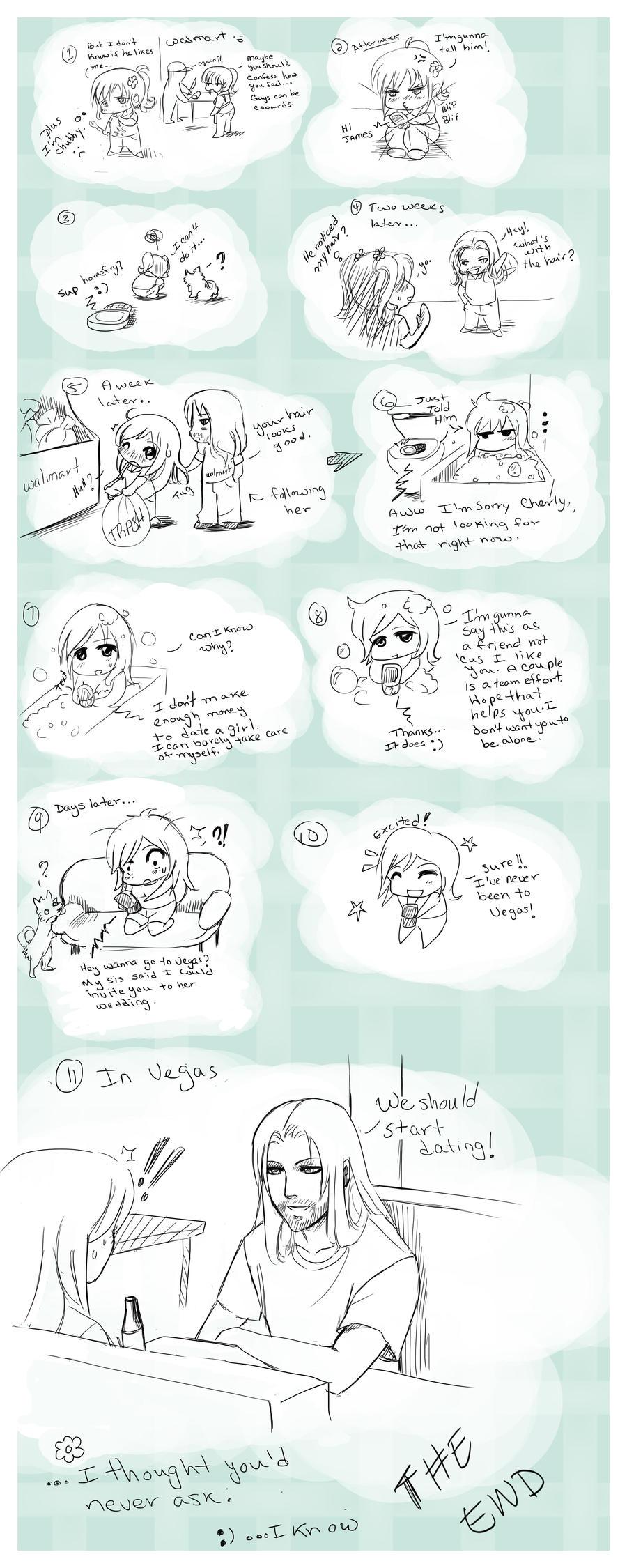 Short Comic Strip-A Silly Love Story 1 0:  by Nardhwen on