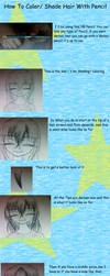 How To Shade Hair With Pencil Turtorial by star5205