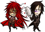 Grell and Sebastian chibi . ID