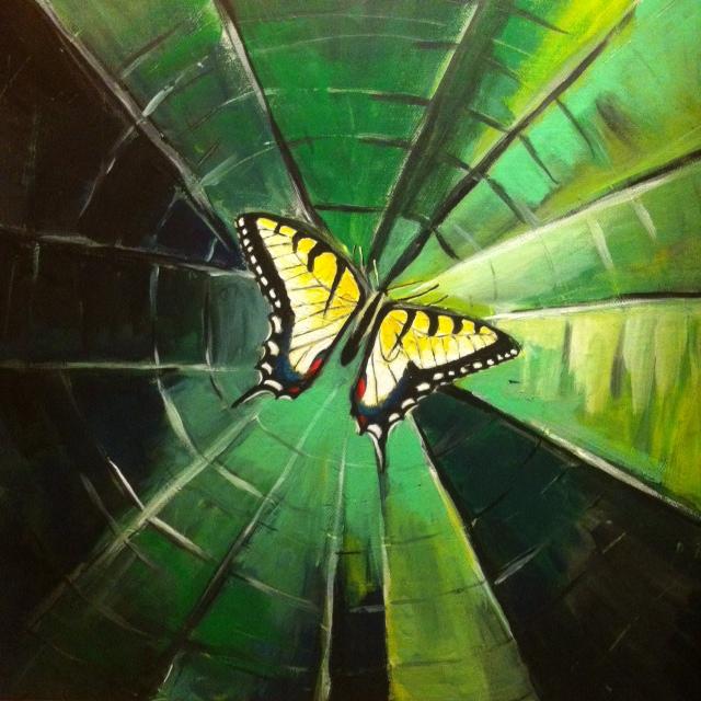 Butterfly in March by linnepop