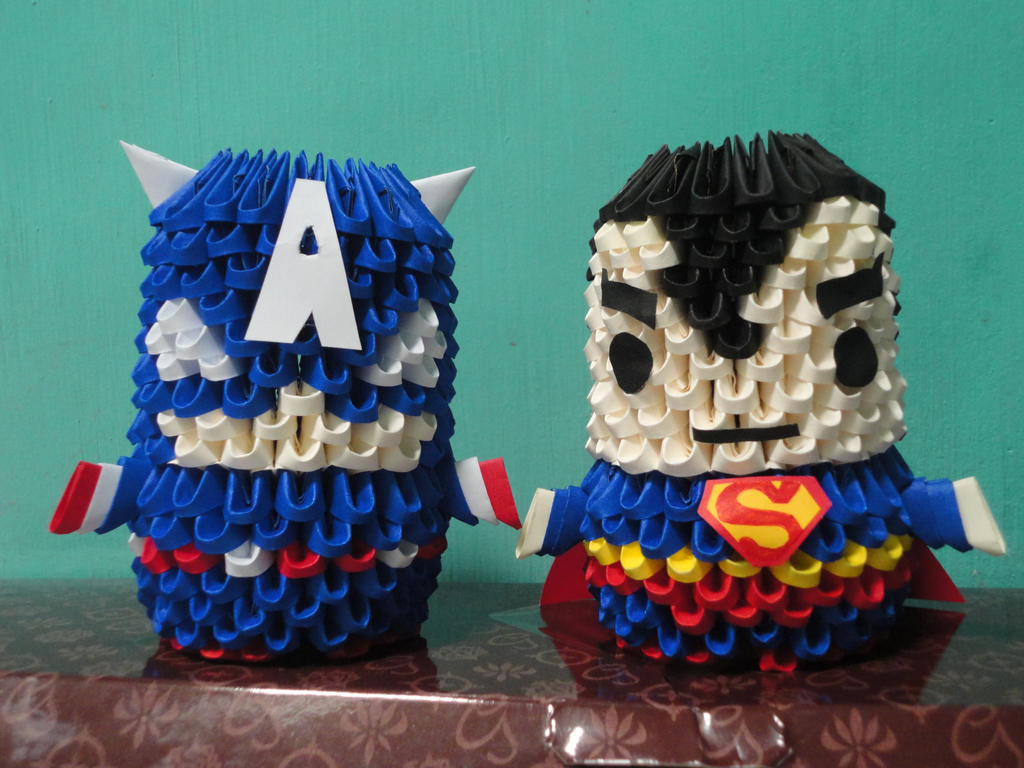 3d origami superman and captain america by frenchfries08 on deviantart 3d origami superman and captain america by frenchfries08 jeuxipadfo Image collections