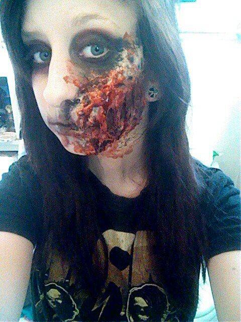 Zombie makeup #1 by immckenzieakilljoy