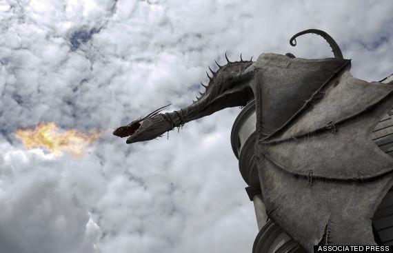 Diagon Ally's Dragon Universal Studio's ,Fla. by mkm3d