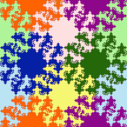 Diagonal peak fractal tile by markdow