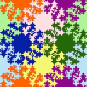 Diagonal peak fractal tile