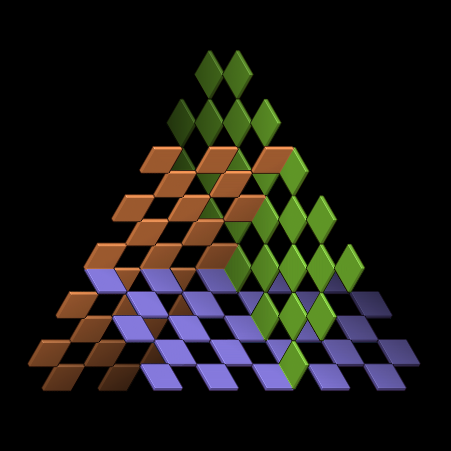 cubic orthogonal planes by markdow digital art drawings paintings    Orthogonal Art