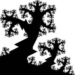 spiny winter trees