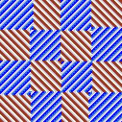 checkerboard spiral tiling