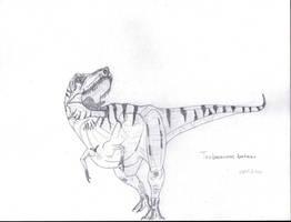 Tarbosaurus bataar by Franchescco