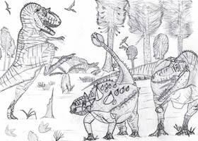 Gorgosaurus Attack! by Franchescco