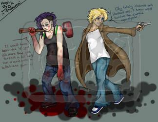 Happy 30th Zombie Apocalypse by GrizGuts