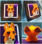 Fox Needle Felt Bust
