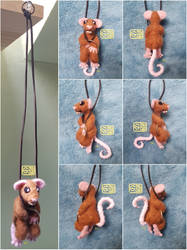 Needle Felt Hanging Hoop Mouse