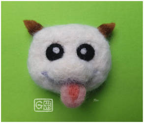 League of Legends Poro Needle Felt Pin