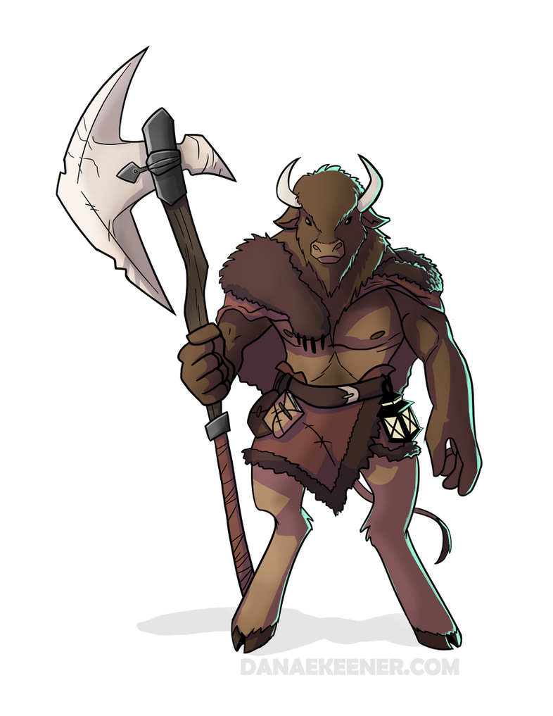 Bison Minotaur By Flailingwings On Deviantart