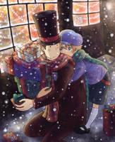 Layton - Christmas Shopping by Hyura