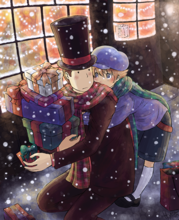 Layton - Christmas Shopping by Hyura