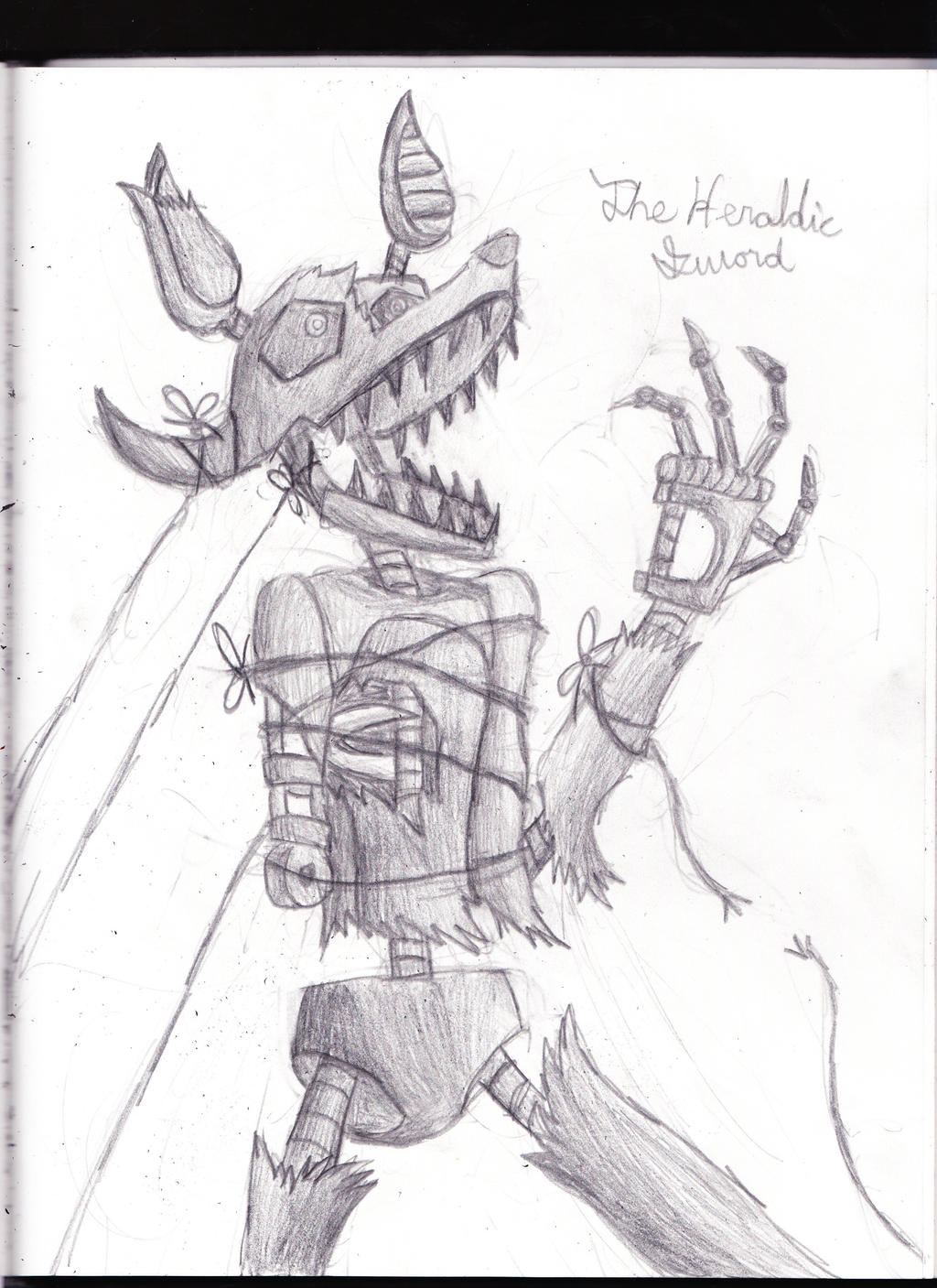 Phantom strings fnaf 3 phantom foxy by the heraldic sword on