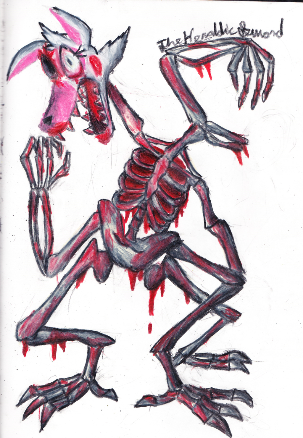 Mangled And Bloody Fnaf Mangle Fanart By The Heraldic