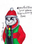 Merry Christmas- PancakeManiac! (Undertale Sans)