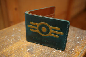 Fallout Vault-tec Leather Bifold Wallet by Arnakhat
