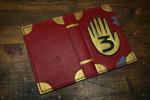 Gravity Falls Journal 3 Leather Document Cover