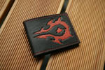 Black and red Horde leather wallet by Arnakhat