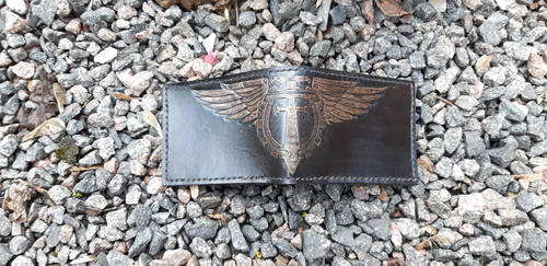 Adeptus Titanicus leather wallet by Arnakhat