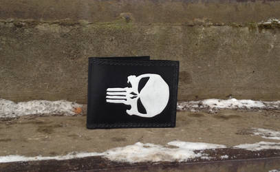 Punisher leather wallet by Arnakhat