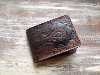 Brown and black Horde leather wallet by Arnakhat