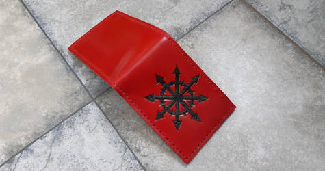 Chaos star leather wallet