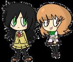 Tomoko and Yuu-chan