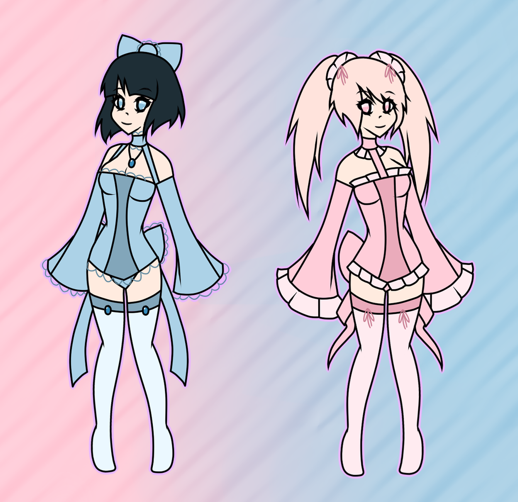 (CLOSED) Point Adoptables: Blue and Pink by Acetylace-Adopts