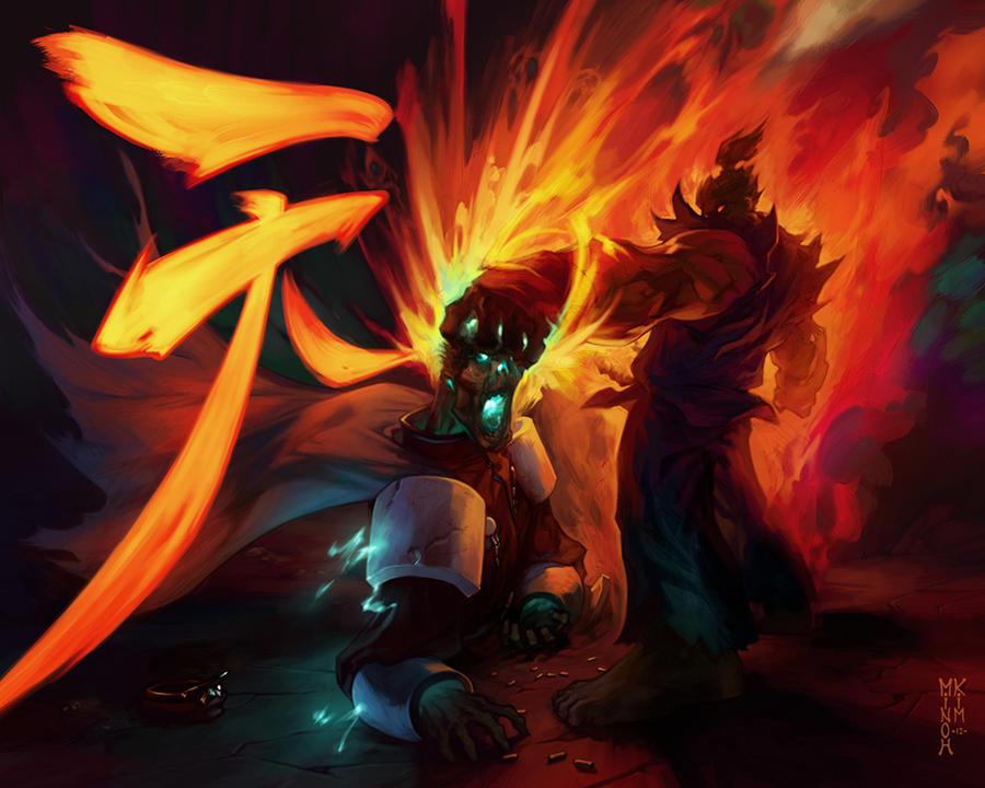 Akuma vs Bison! by MinohKim