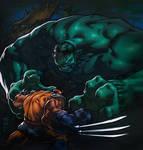 Hulk meets Wolverine...