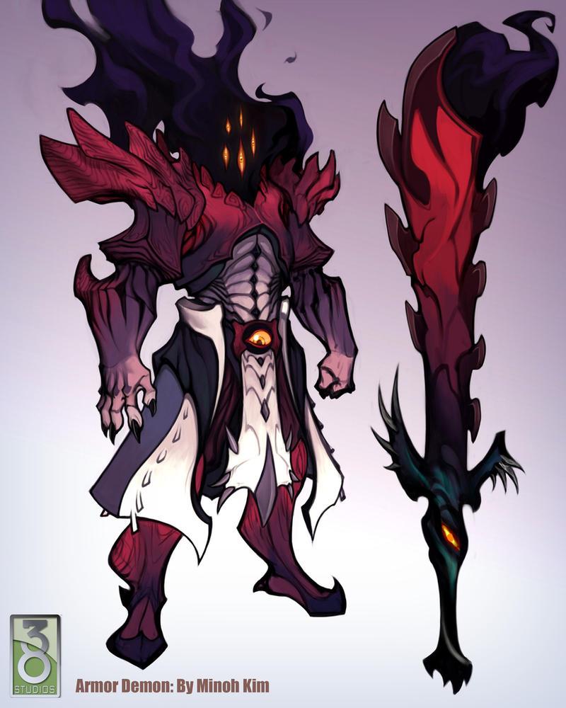 Demon Armor Concept by MinohKim
