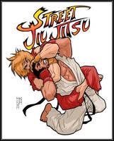 Brazilian Jiu Jitsu T-shirt design by MinohKim