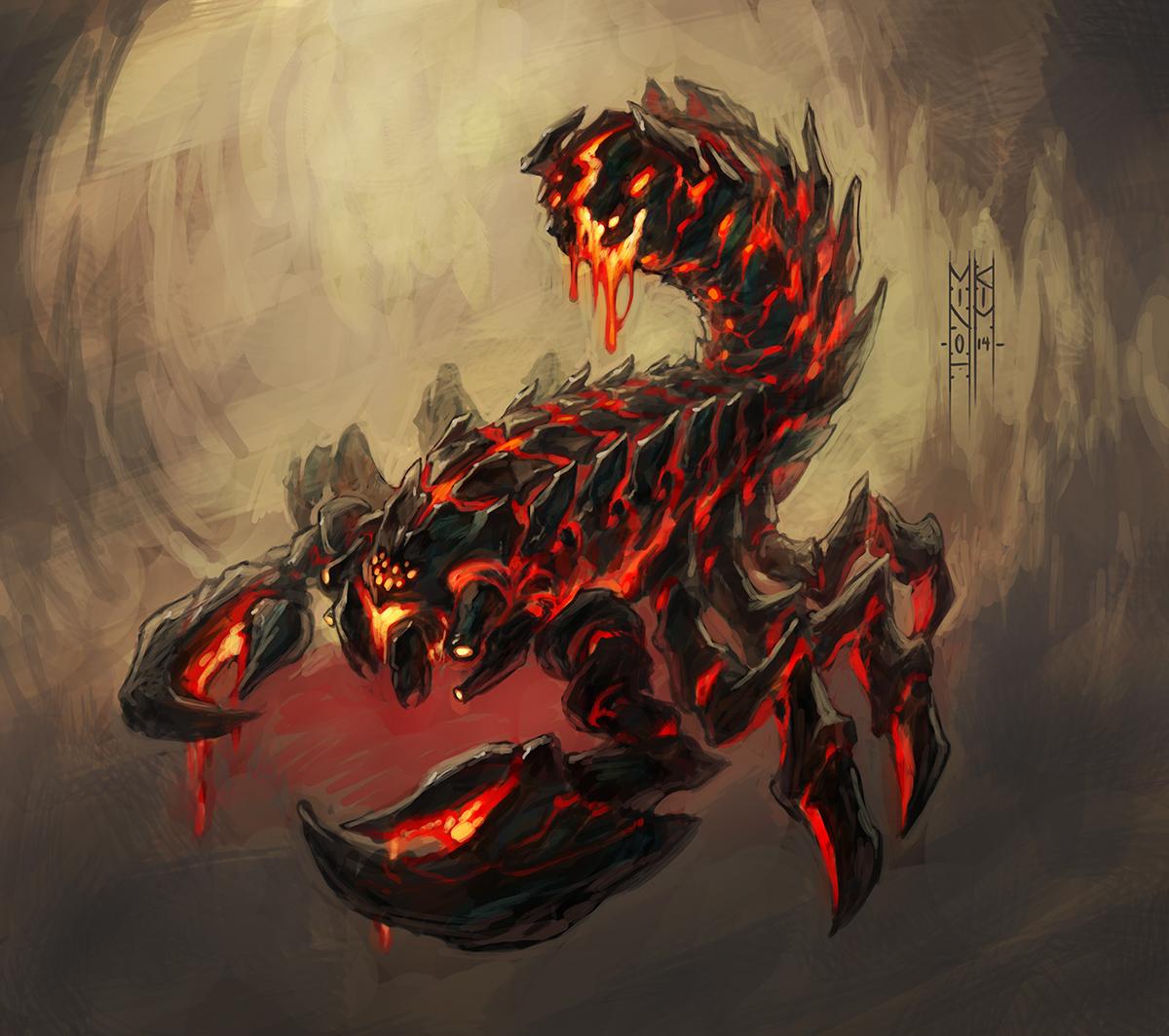 Neverwinter Tyranny Of Dragons Lava Scorpion By Minohkim